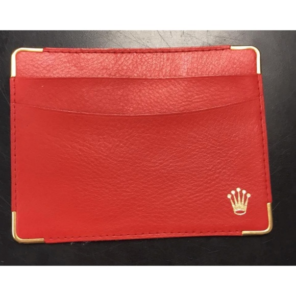 Authentic Credit Card Case Wallet In Red